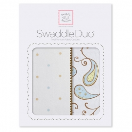 Набор пеленок SwaddleDesigns Swaddle Duo Pstl Blue Triplets