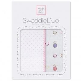 Набор пеленок SwaddleDesigns Swaddle Duo PK Peace/LV/SW
