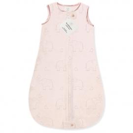 Детский спальный мешок SwaddleDesigns zzZipMe Sack Pink/Srerling Deco Elephant