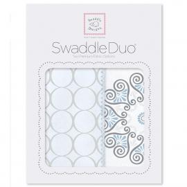 Набор пеленок SwaddleDesigns Swaddle Duo Blue Mod Medallion