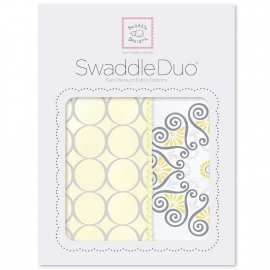 Набор пеленок SwaddleDesigns Swaddle Duo Yellow Mod Medallion