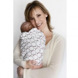Фланелевая пеленка для новорожденного SwaddleDesigns Кружки - киви