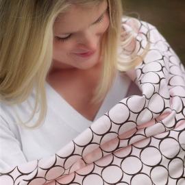 Фланелевая пеленка для новорожденного SwaddleDesigns Кружки - фуксия
