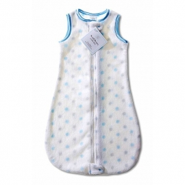 Детский спальный мешок SwaddleDesigns zzZipMe 6-12 М PB & Sterling Dot