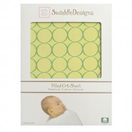 Детская простынь Fitted Crib Sheet Pure Green Mod