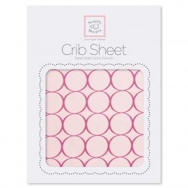 Детская простынь Fitted Crib Sheet Very Berry Mod