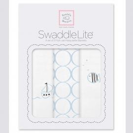 Набор пеленок SwaddleDesigns SwaddleLite Boats & Fish Blue