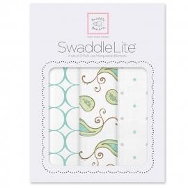 Набор пеленок SwaddleDesigns SwaddleLite Kiwi Paisley