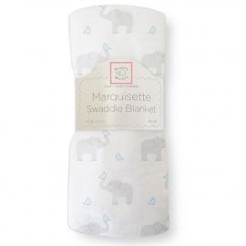 Пеленка детская тонкая SwaddleDesigns Маркизет PB Elephant/Chickies