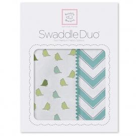 Набор пеленок SwaddleDesigns Swaddle Duo TQ Chickies/Chevron