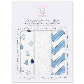 Набор пеленок SwaddleDesigns SwaddleLite Blue Chevron Lite