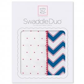 Набор пеленок SwaddleDesigns Swaddle Duo True Red Chevron