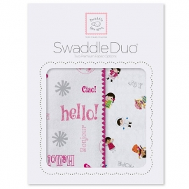 Набор пеленок SwaddleDesigns Swaddle Duo Pink Hello SW