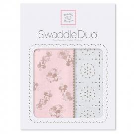 Набор пеленок SwaddleDesigns Swaddle Duo TG/PP Minnie