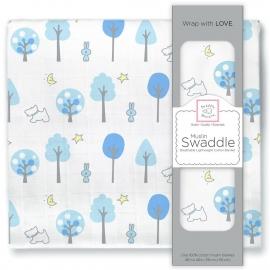 Пеленка муслиновая SwaddleDesigns Blue Forest
