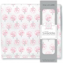 Пеленка муслиновая SwaddleDesigns Pink Spot Tree