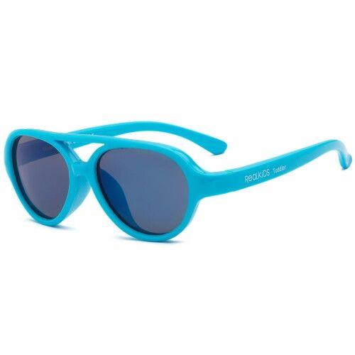 Детские солнцезащитные очки Real Kids Авиатор 4+ неон голубые
