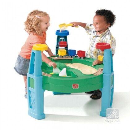 """Столик """"Карьер"""" для игр с песком и водой голубой"""