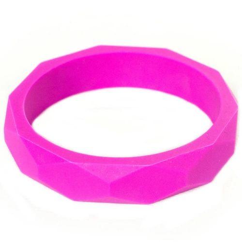 Силиконовый браслет Itzy Ritzy Round Bangle Hot Pink
