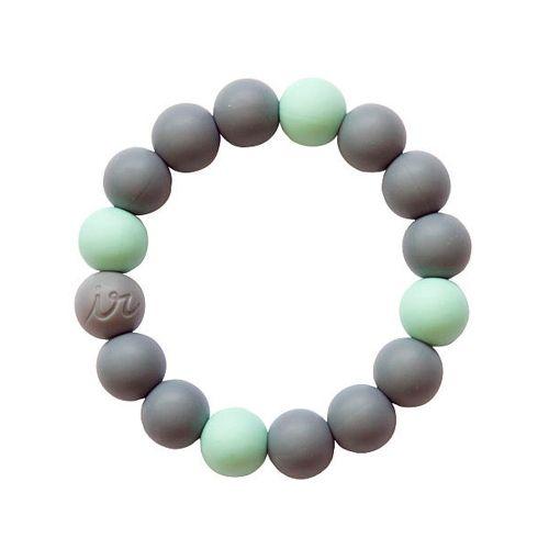 Силиконовый браслет Itzy Ritzy Round Bead Gray Mint