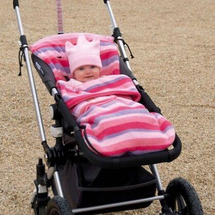 Флисовый конверт Buggysnuggle Pink Stripe Fleece