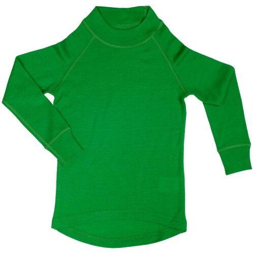 Водолазка из шерсти мериноса зеленая (размер 1-2 года)