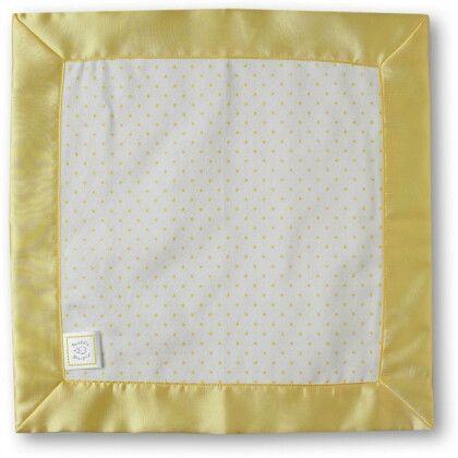 Комфортер платочек обнимашка Baby Lovie - Flannel Yellow Polka Dot