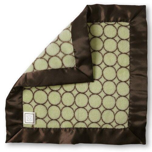 Комфортер платочек обнимашка Baby Lovie SwaddleDesigns плюшевая нежность Lime w/BR Mod C