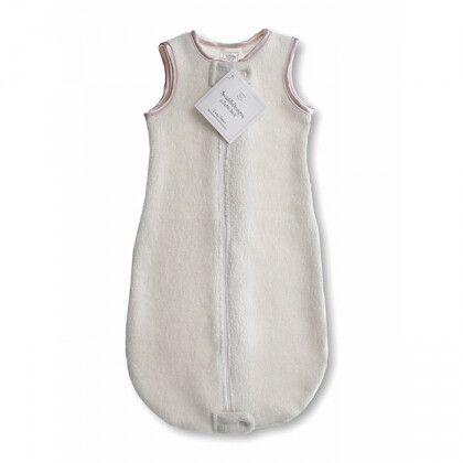 Спальный мешок для детей SwaddleDesigns эко флис TOG 1.5 Organic zzZipMe 6-12 М Pstl. Pink Trim