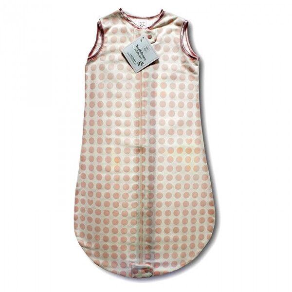 Спальный мешок для детей SwaddleDesigns TOG 0.7 zzZipMe Sack 6-12 M - Organic Flannel PP Dots & Hearts