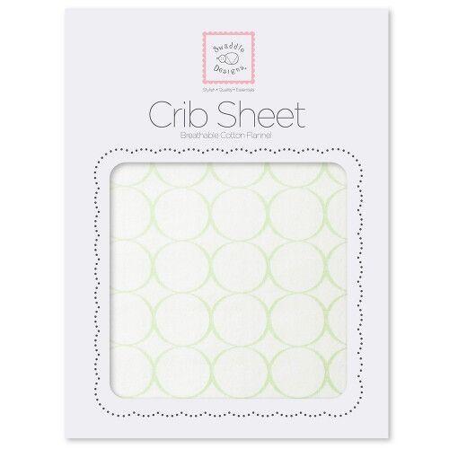 Простынь детская SwaddleDesigns Fitted Crib Sheet - Organic Kiwi Mod C on IV