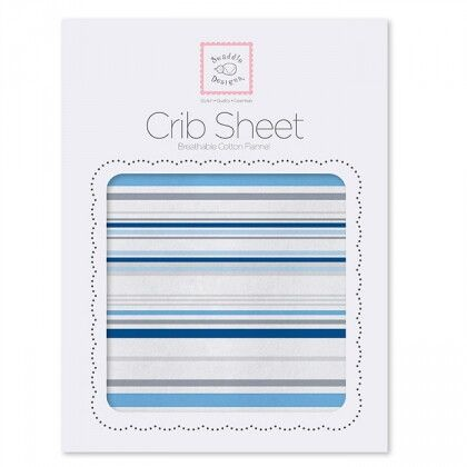 Простынь детская SwaddleDesigns Fitted Crib Sheet Pure Green Stripes