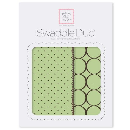 Набор пеленок SwaddleDesigns Swaddle Duo Lime Modern