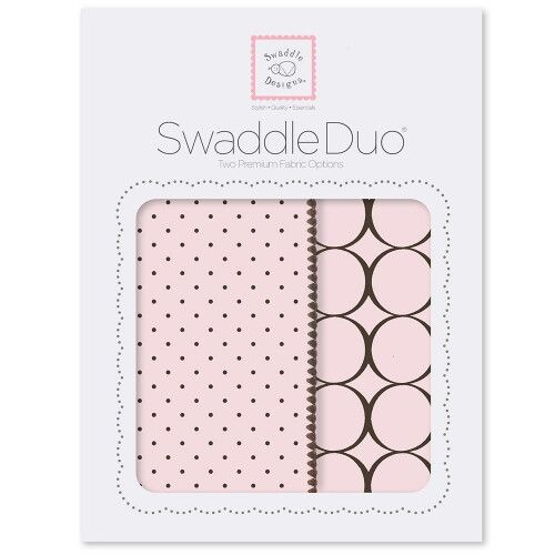 Набор пеленок SwaddleDesigns Swaddle Duo Pstl Pink Modern