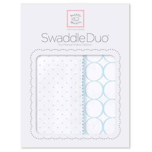 Набор пеленок SwaddleDesigns Swaddle Duo Pstl Blue Classic