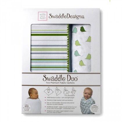 Набор пеленок SwaddleDesigns Swaddle Duo KW/PG Lt Chickies