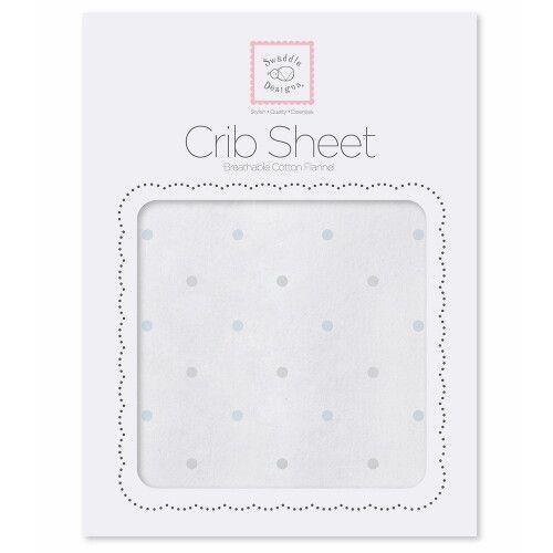 Простынь детская Fitted Crib Sheet PB & Sterling Dot