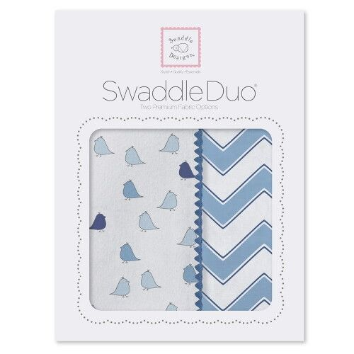Набор пеленок SwaddleDesigns Swaddle Duo BL Chickies/Chevron