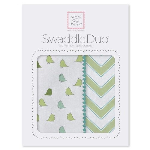 Набор пеленок SwaddleDesigns Swaddle Duo KW Chickies/Chevron
