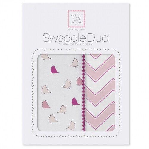 Набор пеленок SwaddleDesigns Swaddle Duo PK Chickies/Chevron