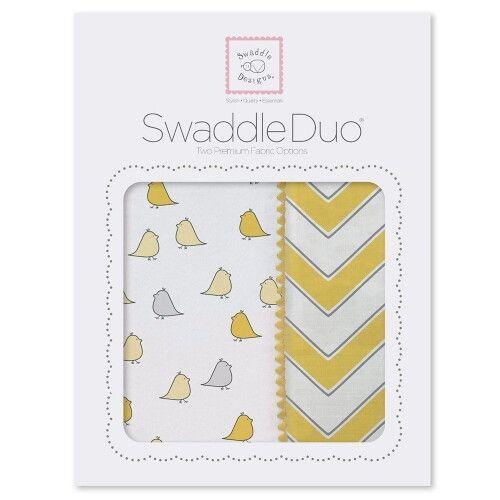 Набор пеленок SwaddleDesigns Swaddle Duo Y Chickies/Chevron