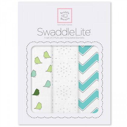 Набор пеленок SwaddleDesigns SwaddleLite Turquoise Chevron Lite