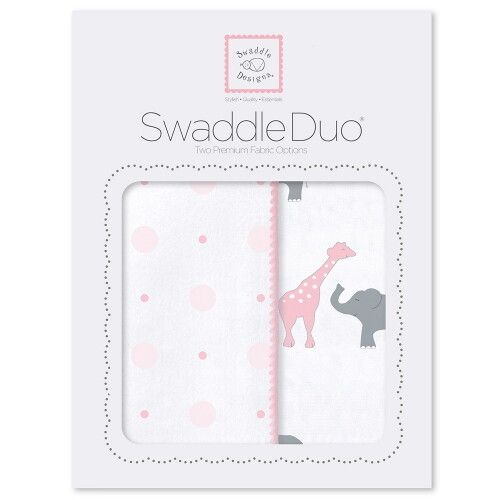 Набор пеленок SwaddleDesigns Swaddle Duo Pink Circus Fun