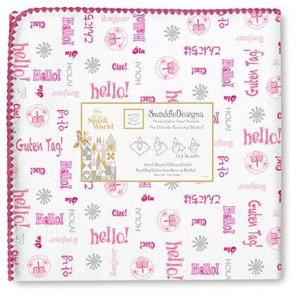 Фланелевая пеленка для новорожденного SwaddleDesigns Pink Hello SW