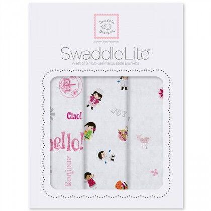 Наборы пеленок SwaddleDesigns SwaddleLite Taupe Gray Disney