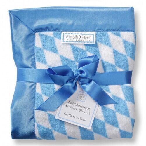 Плед детский SwaddleDesigns Stroller Blanket Bavarian Rhombus Blue
