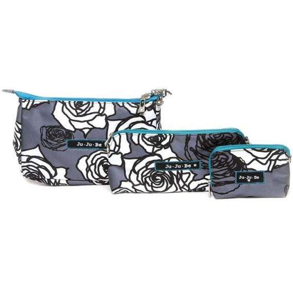 Сумочки 3 шт. Be Set Ju-Ju-Be charcoal roses