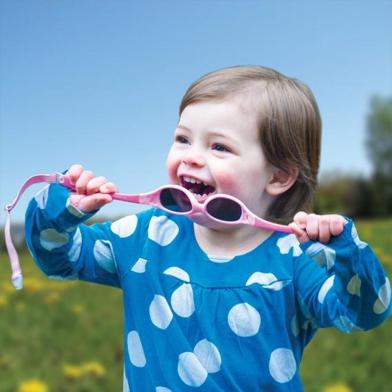 Солнечные очки для малышей Real Kids Explorer 0+ розовый/салатовый
