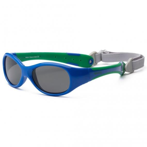 Солнечные очки для малышей Real Kids Explorer 0+ синий/зеленый