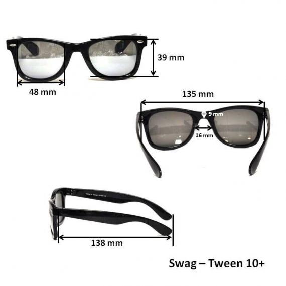 Очки для взрослых и подростков Swag черные